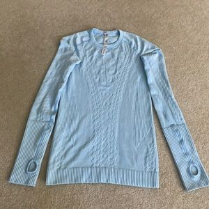 Pretty top, leisure wear, layering,or with jeans.